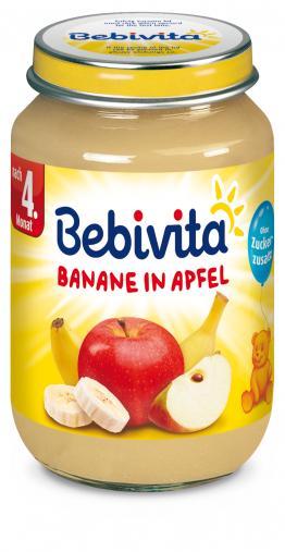 Bebivita Jablka s banánem 6x190g