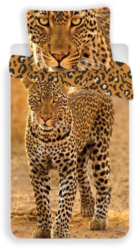 Jerry Fabrics Dětské povlečení Leopard 2017, 140x200/70x90