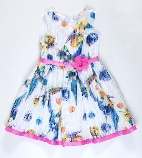 Topo Dívčí šaty s květinami - barevné