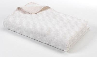Baby Dan Dětská oboustranná deka double fleece, 75x100 cm - bílá