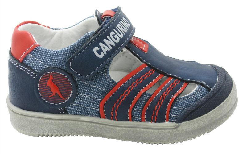 Canguro Chlapecké celokožené kotníkové sandály - modré