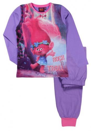 E plus M Dívčí pyžamo Trollové - fialové