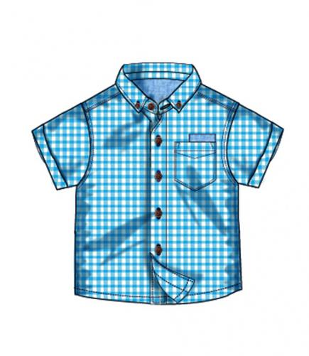 Minoti Chlapecká kostkovaná košile - modrá