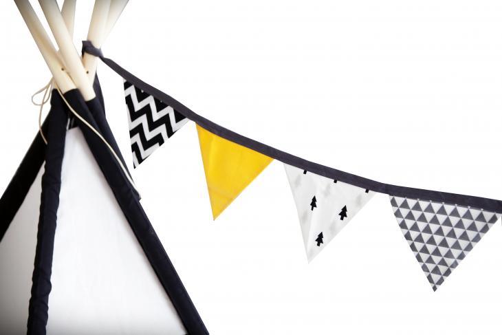 Vigvam design Vlajková oboustranná girlanda Modern Art - žlutá