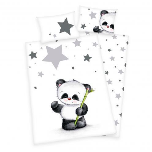 Herding Dětské oboustranné povlečení Panda, 100x135 cm/40x60 cm