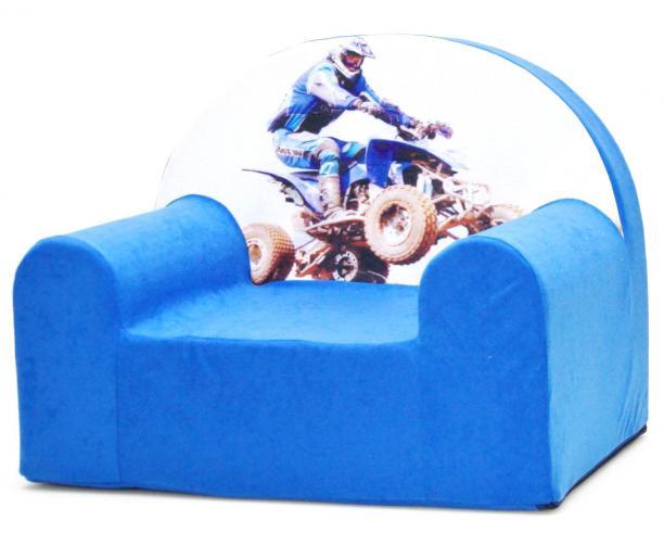 Baby Nellys Dětské křesílko Čtyřkolka v modré