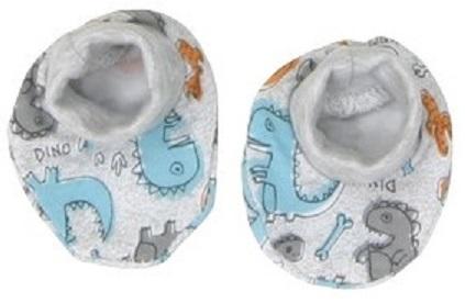 Mamatti Chlapecké ponožky/capáčky Dino - barevné