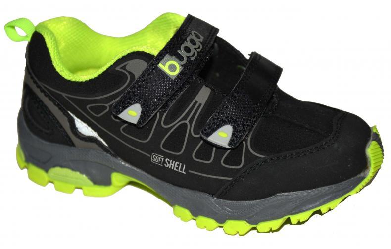 Bugga Chlapecká softshellová obuv - žluto-černá