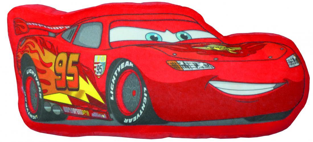 CTI Dětský 3D polštář Cars, 49x24 cm - červený
