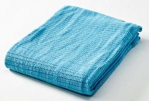 Baby Dan Dětská háčkovaná bavlněná deka Babydan - tyrkysová