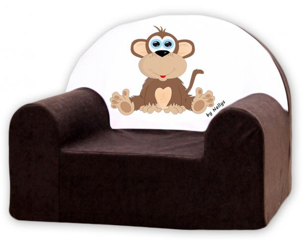 Baby Nellys Dětské křesílko Opička Nellys hnědá
