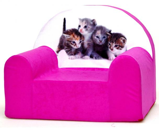 Baby Nellys Dětské křesílko Kočičky v růžové