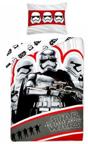 Halantex Dětské oboustranné povlečení Star Wars, 140x200 cm - červeno-bílé