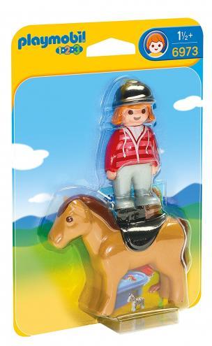 Playmobil Jezdkyně s koněm (1.2.3)