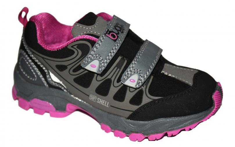 Bugga Dívčí softshellová obuv - růžovo-šedá