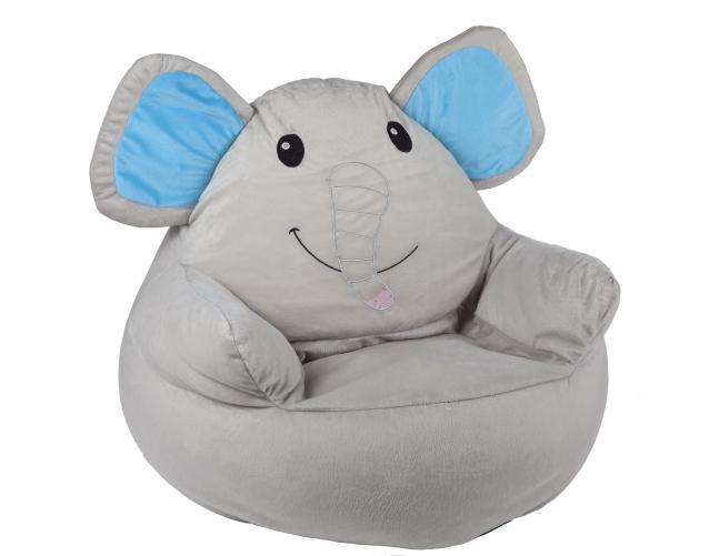 BabyGO Dětské křesílko Slon - šedé