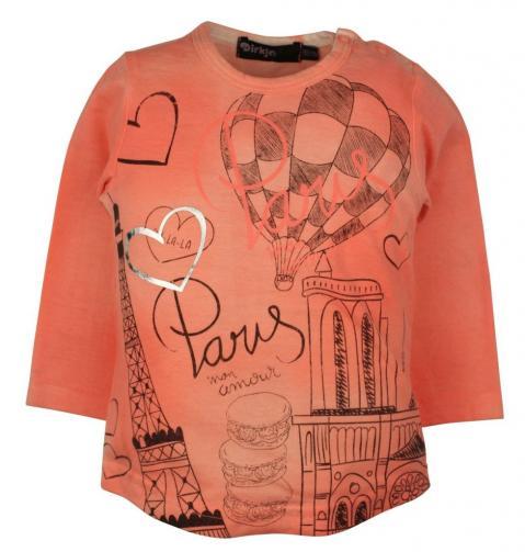 Dirkje Dívčí tričko s balónem - oranžové