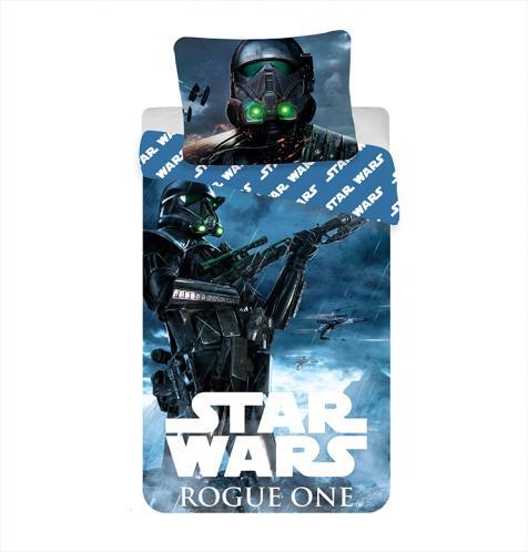 Jerry Fabrics Dětské oboustranné povlečení Star Wars Rogue One, 140x200 cm/70x90 cm - modré