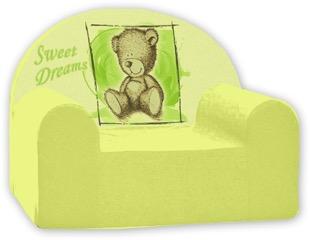 Baby Nellys Dětské křesílko Sweet Dreams by Teddy - zelené