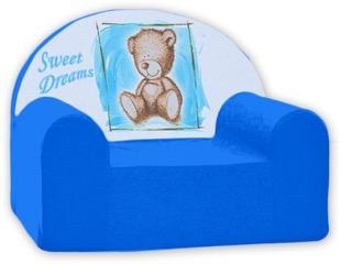 Baby Nellys Dětské křesílko Sweet Dreams by Teddy - modré