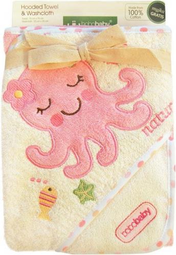 Bobobaby Dětská osuška ECO, krémová-růžová