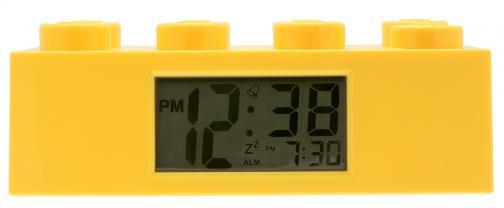 LEGO® Watch & Clock Dětské hodiny s budíkem Brick - žluté