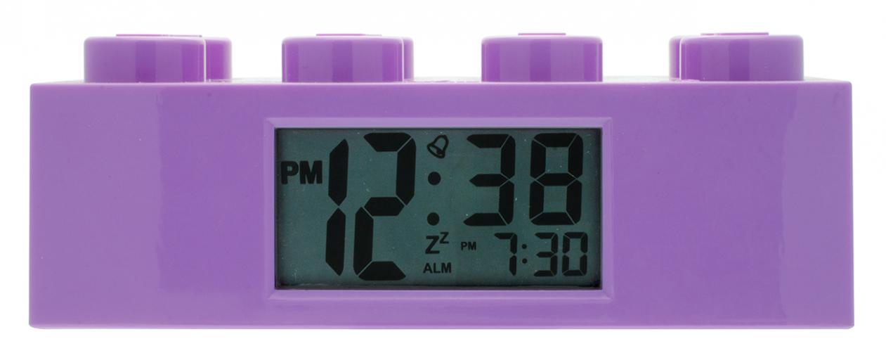 LEGO® Watch & Clock Dětské hodiny s budíkem Friends - fialové