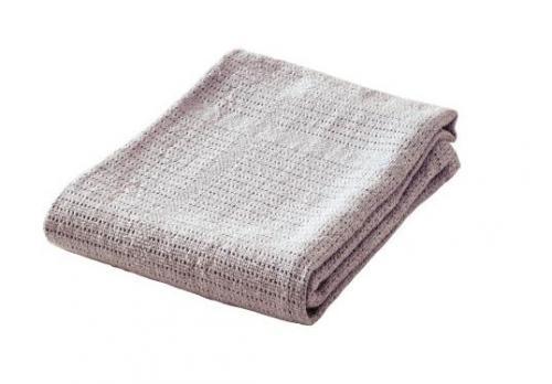 Baby Dan Dětská háčkovaná bavlněná deka BabyDan - šedá