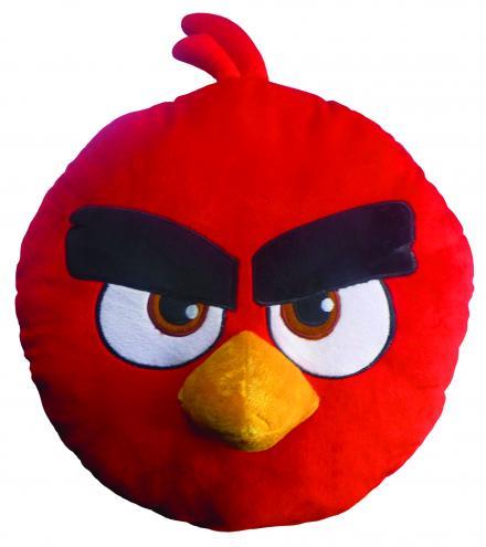 CTI Dětský 3D polštář Angry Birds - Ruďák, 36 cm
