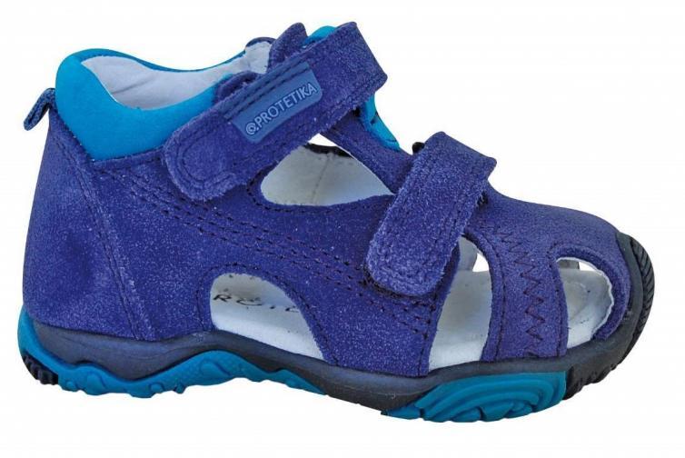 Protetika Chlapecké kožené sandály Laris Azuro - modré