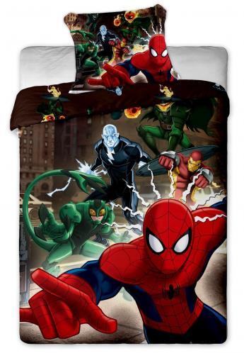 Jerry Fabrics Dětské oboustranné povlečení Spiderman, 140x200 cm/70x90 cm