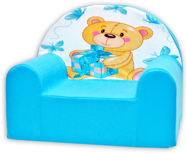 Baby Nellys Dětské křesílko Míša Nellys v modrém