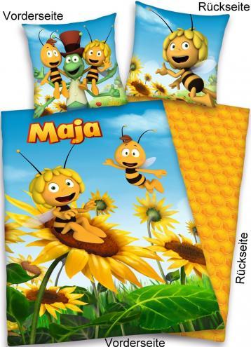 Herding Dětské oboustranné povlečení Včelka Mája, 135x200 cm