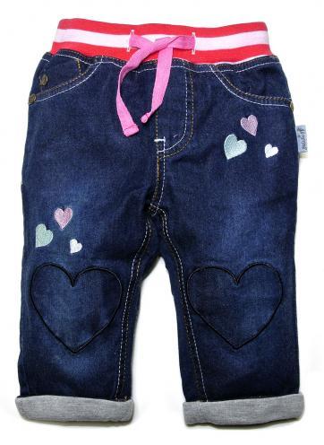 Gelati Dívčí kalhoty se srdíčky - modré