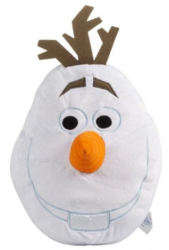 CTI Dětský 3D polštář Frozen - Olaf, 48x35 cm - bílý