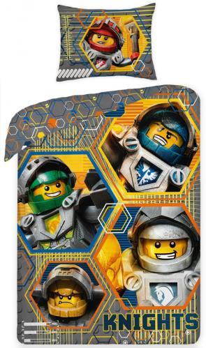 Halantex Dětské oboustranné povlečení LEGO Knights, 140x200 cm - barevné
