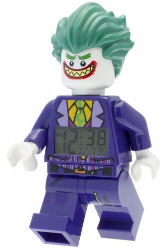 LEGO® Watch & Clock LEGO® BATMAN MOVIE Joker - hodiny s budíkem