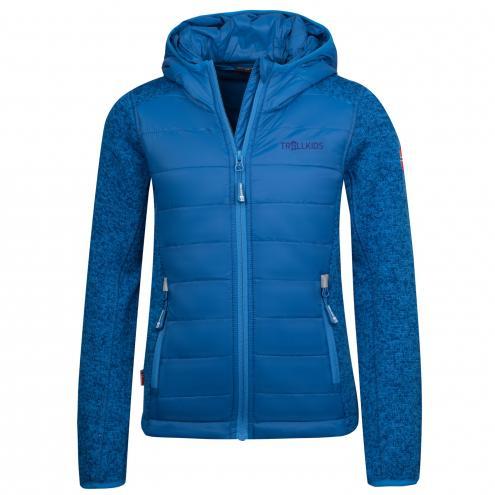 Trollkids Chlapecká fleecová bunda Skabu - modrá