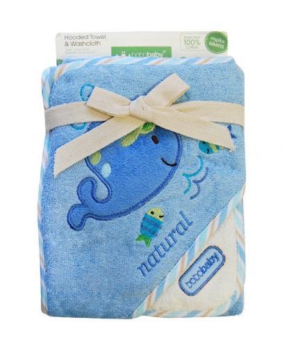 Bobobaby Dětská osuška ECO, modrá-velryba