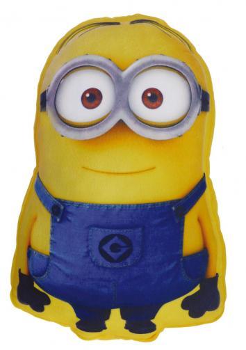 CTI Dětský 3D polštář Mimoni - Bob, 45x30 cm - modro-žlutý
