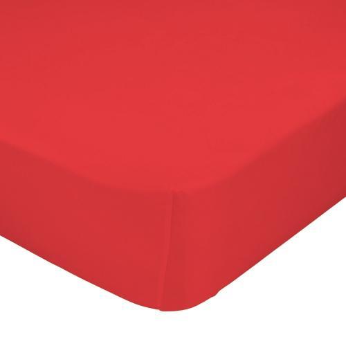 Mr. FOX Bavlněné prostěradlo, 90x200 cm - červené