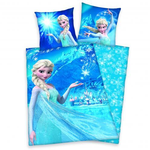 Herding Dětské oboustranné flanelové povlečení Frozen - Elsa, 140x200 cm/70x90 cm