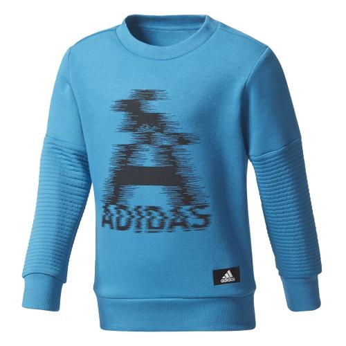 adidas Chlapecká mikina LB TR SWEAT - modrá