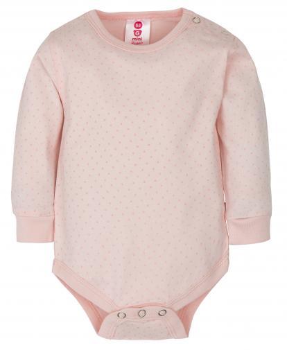 G-mini Dívčí puntíkované body Basic - růžové