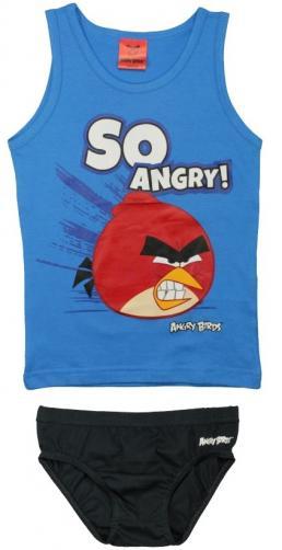 E plus M Chlapecký set tílka a slipů Angry Birds - modrý
