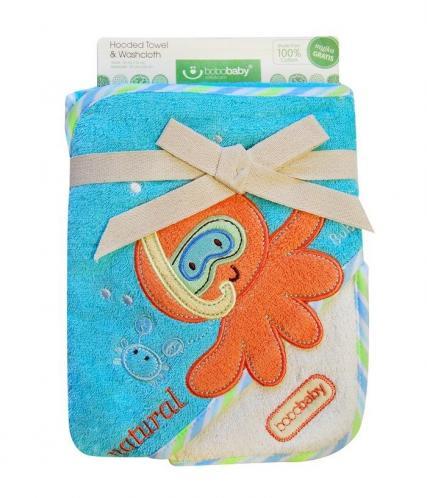 Bobobaby Dětská osuška ECO, tyrkysová-chobotnice