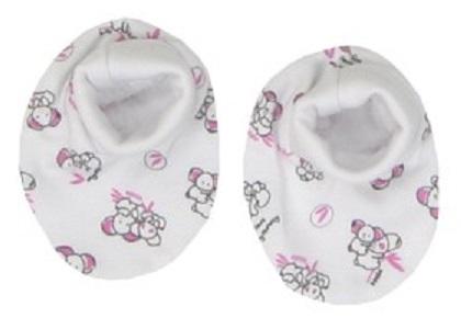 Mamatti Dívčí ponožky/capáčky Koala - bílé