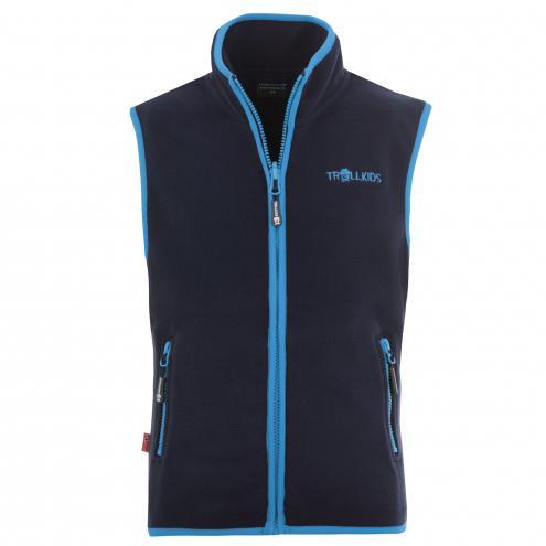 Trollkids Chlapecká fleecová vesta Arendal - modrá