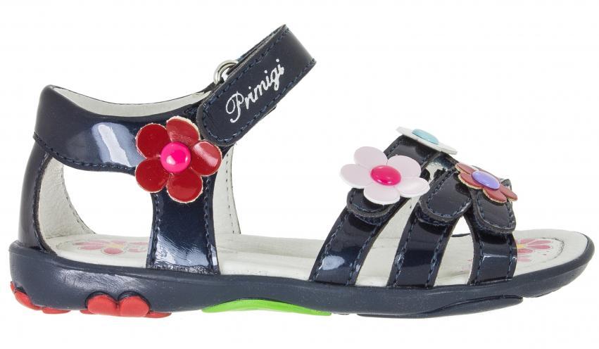 Primigi Dívčí sandály s květinami - modré