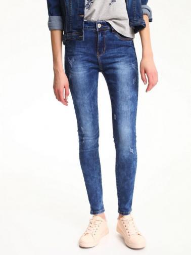 Top Secret Jeansy dámské modré skinny